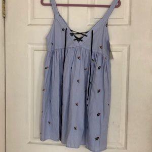 BNWT Zara TRF Pinstripe mini dress / small